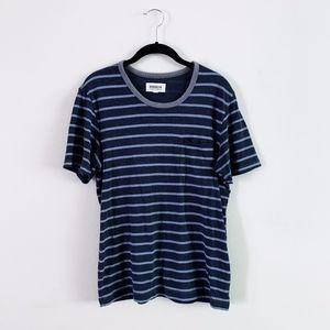 Brooklyn Industries Mens Navy Striped T Shirt